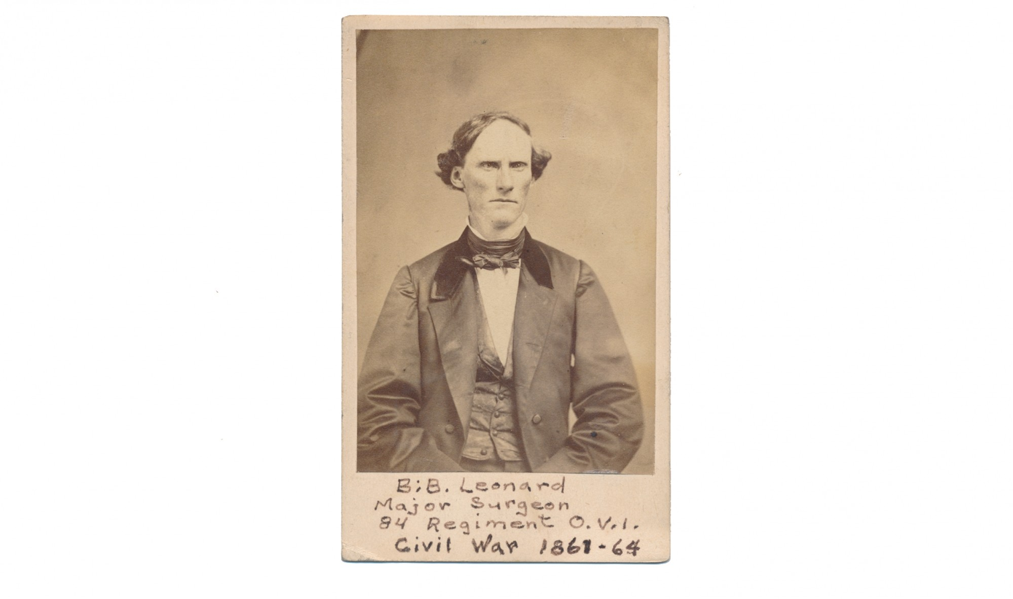 CDV OF SURGEON B.B. LEONARD, 84TH OHIO VOL. INF..