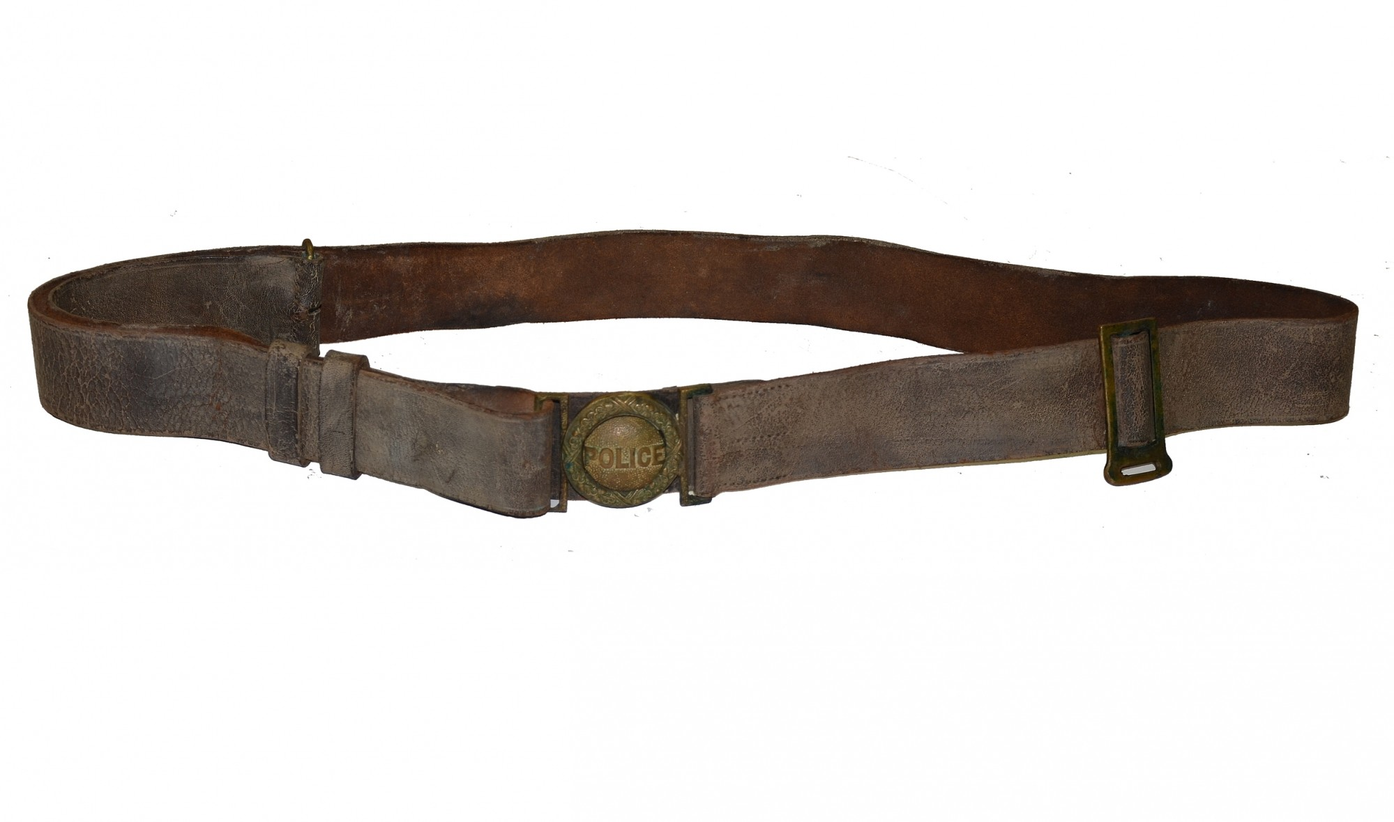 BALTIMORE CITY POLICE BELT WITH BUCKLE, CIRCA 1870-1890