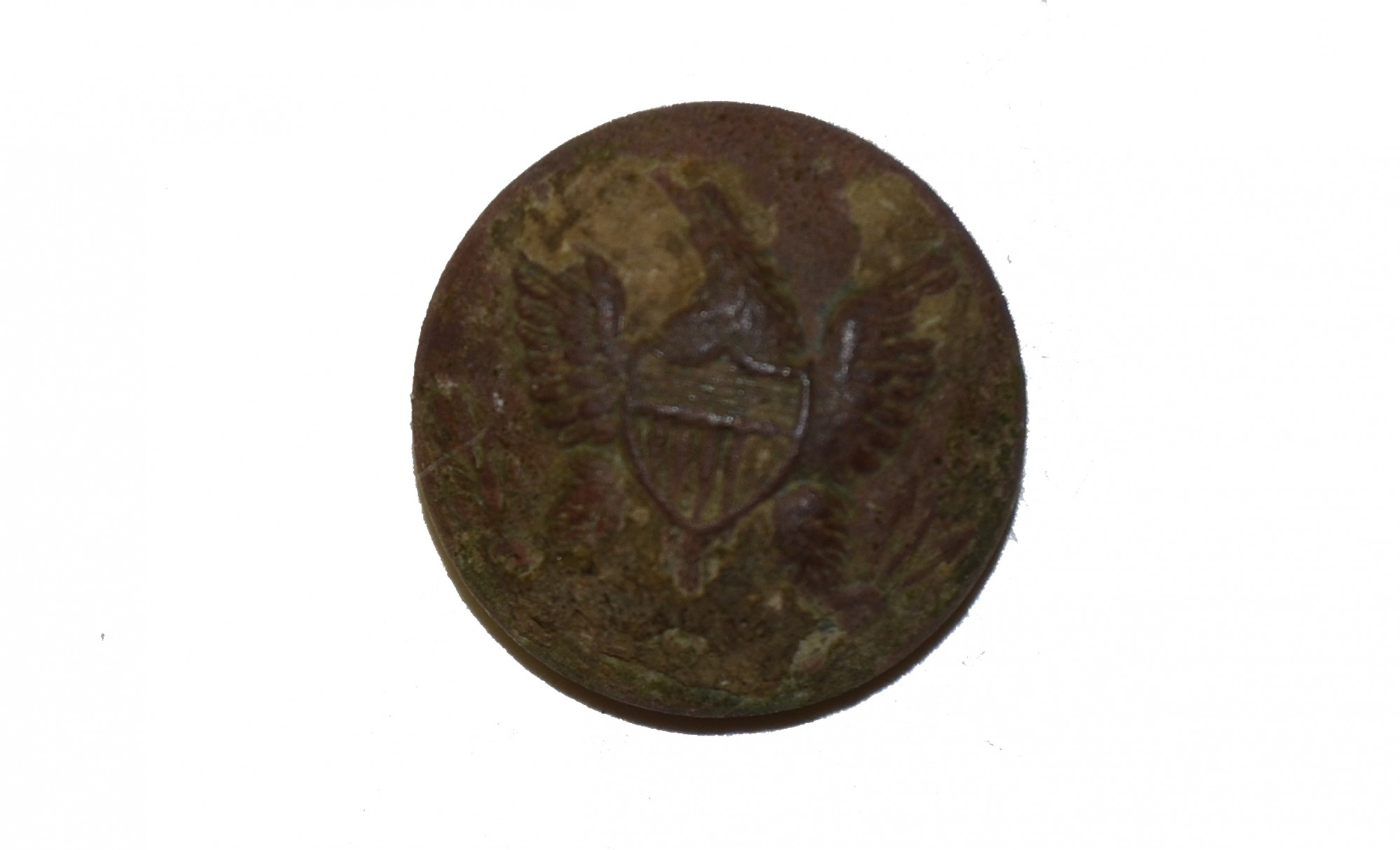 US GENERAL SERVICE EAGLE COAT BUTTON RECOVERED AT GETTYSBURG