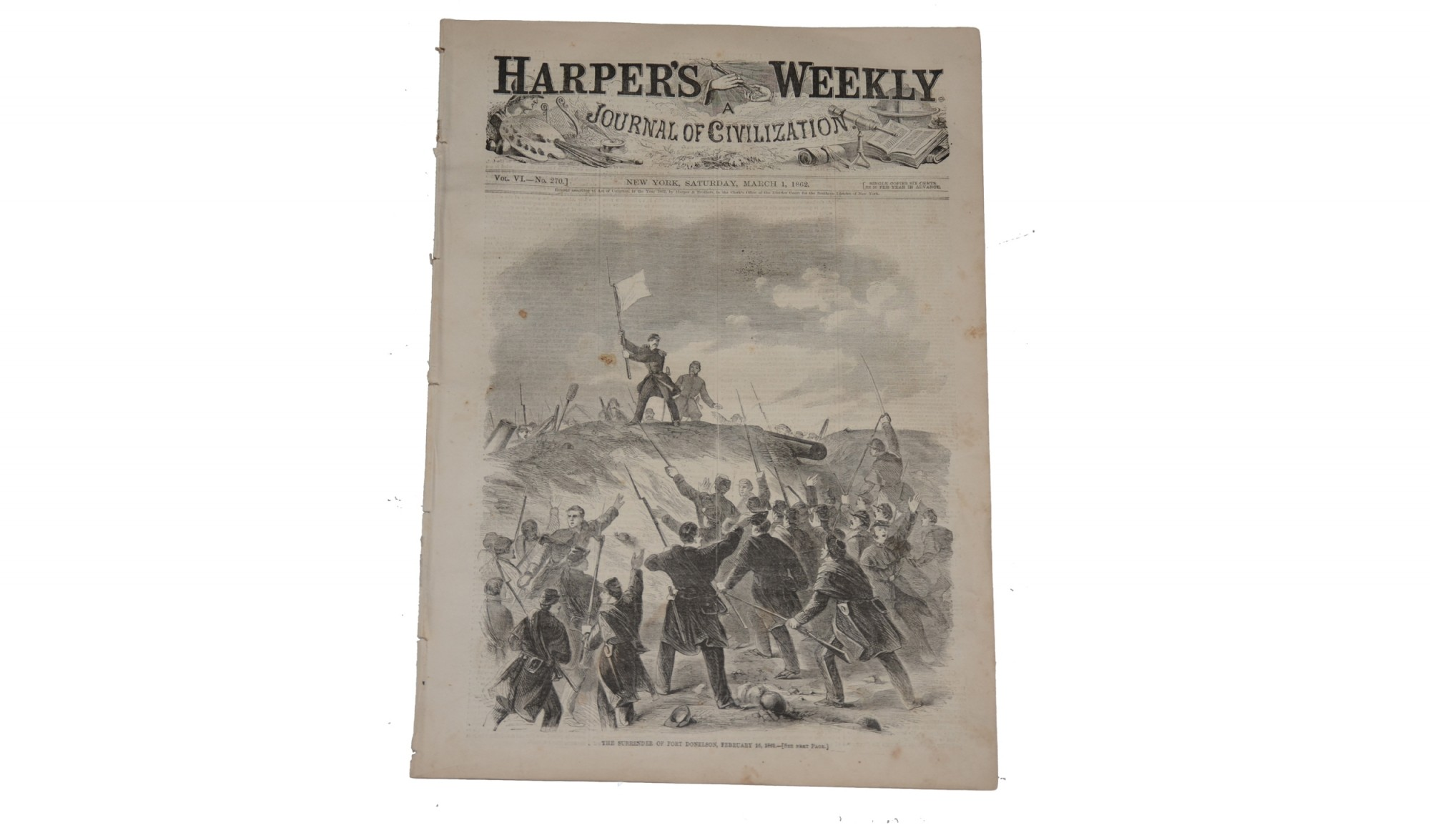 HARPER'S WEEKLY, NEW YORK, MARCH 1, 1862 - FORTS HENRY & DONELSON