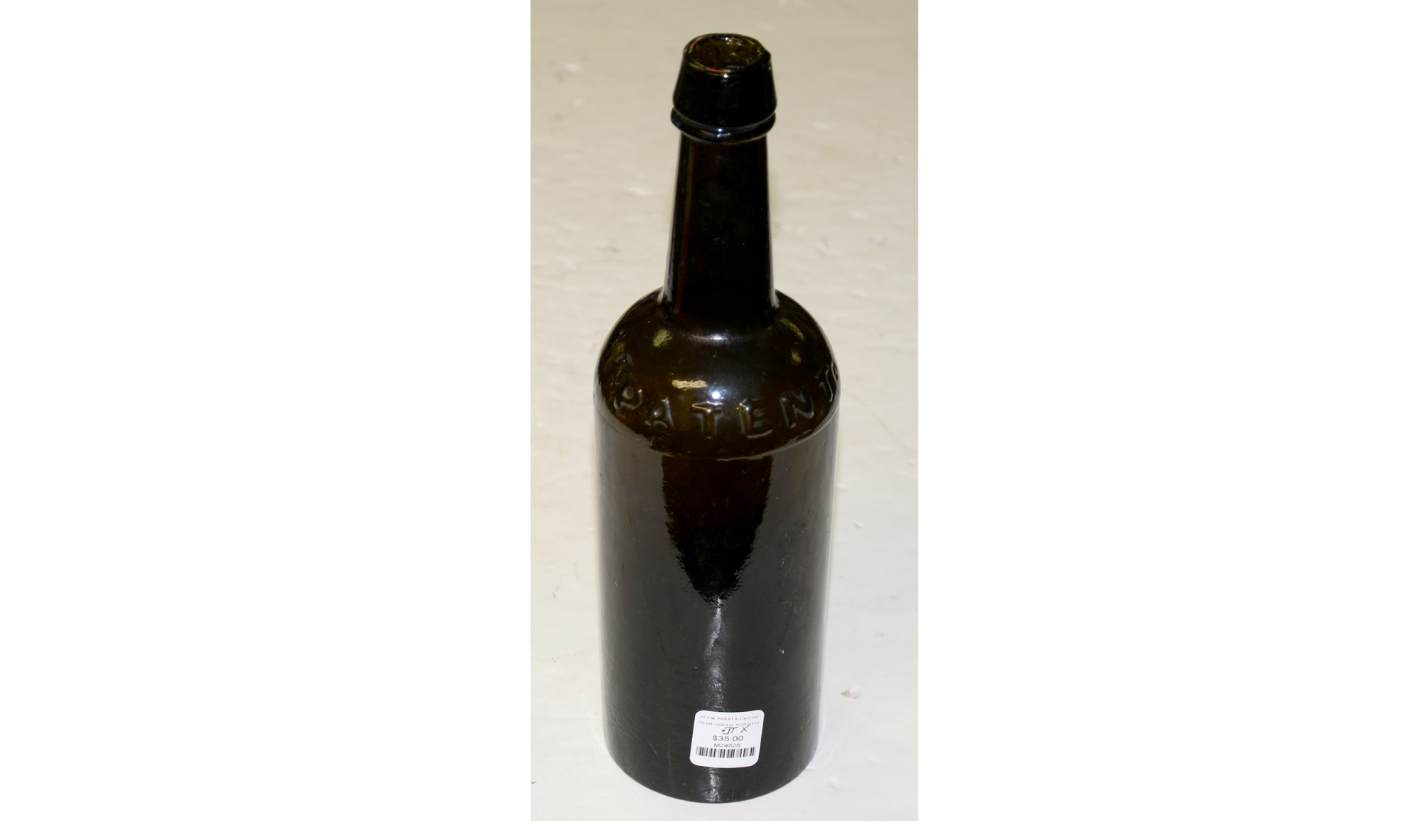 "CIVIL WAR ERA ""PATENT"" ALE BOTTLE"