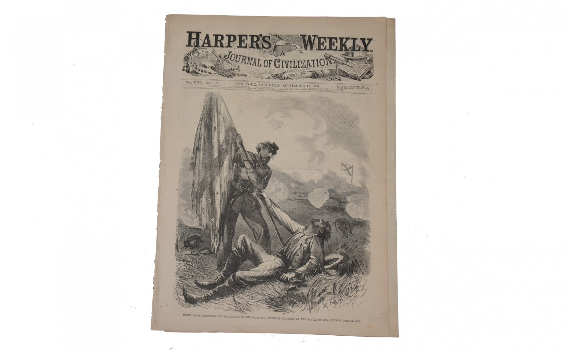 HARPER'S WEEKLY, NEW YORK, SEPTEMBER 17, 1864 – ATLANTA CAMPAIGN, MOBILE BAY