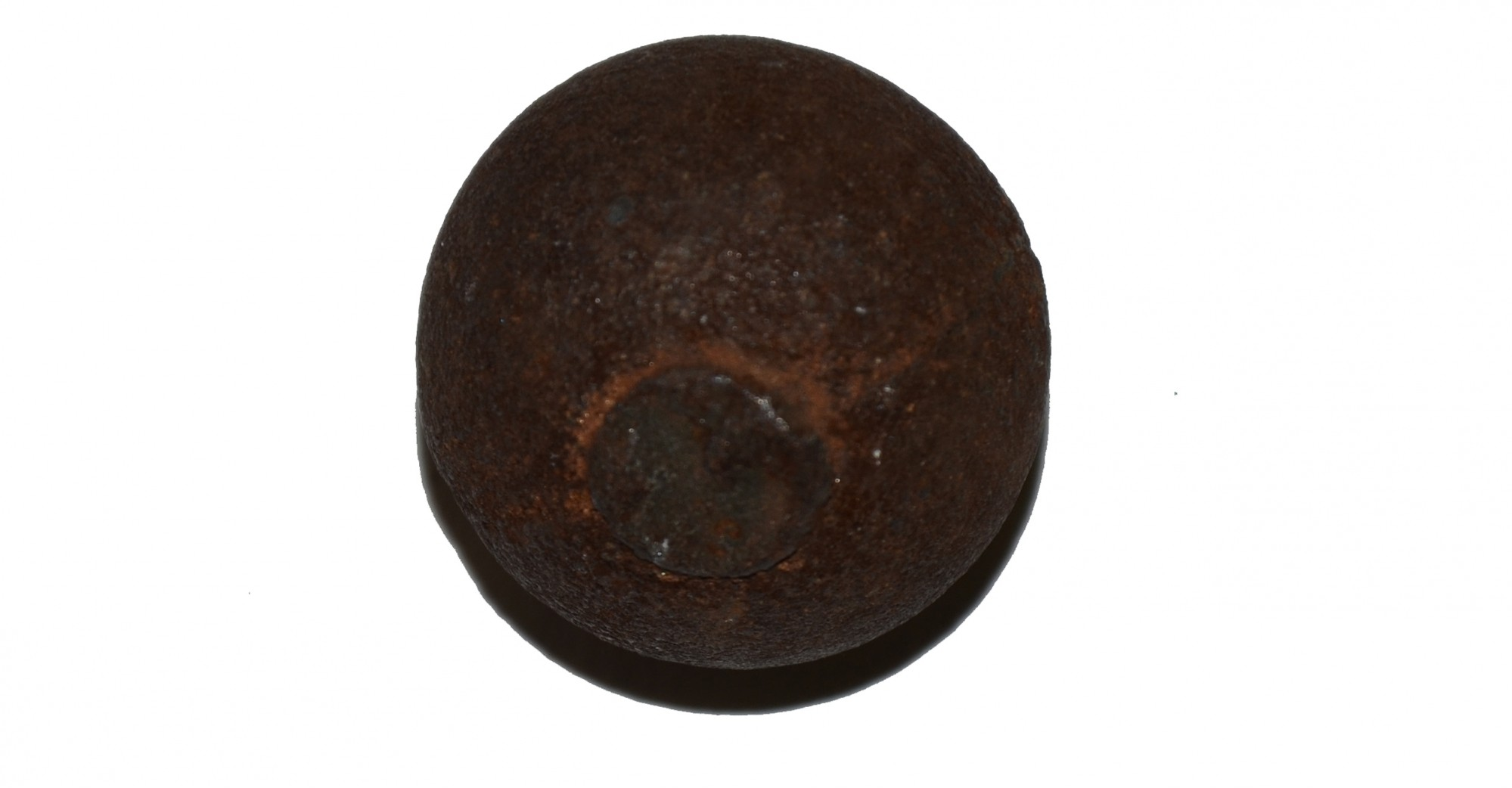 "US/CS 3"" CANISTER BALL RECOVERED ON OAK HILL, GETTYSBURG – SHIELDS MUSEUM COLLECTION"