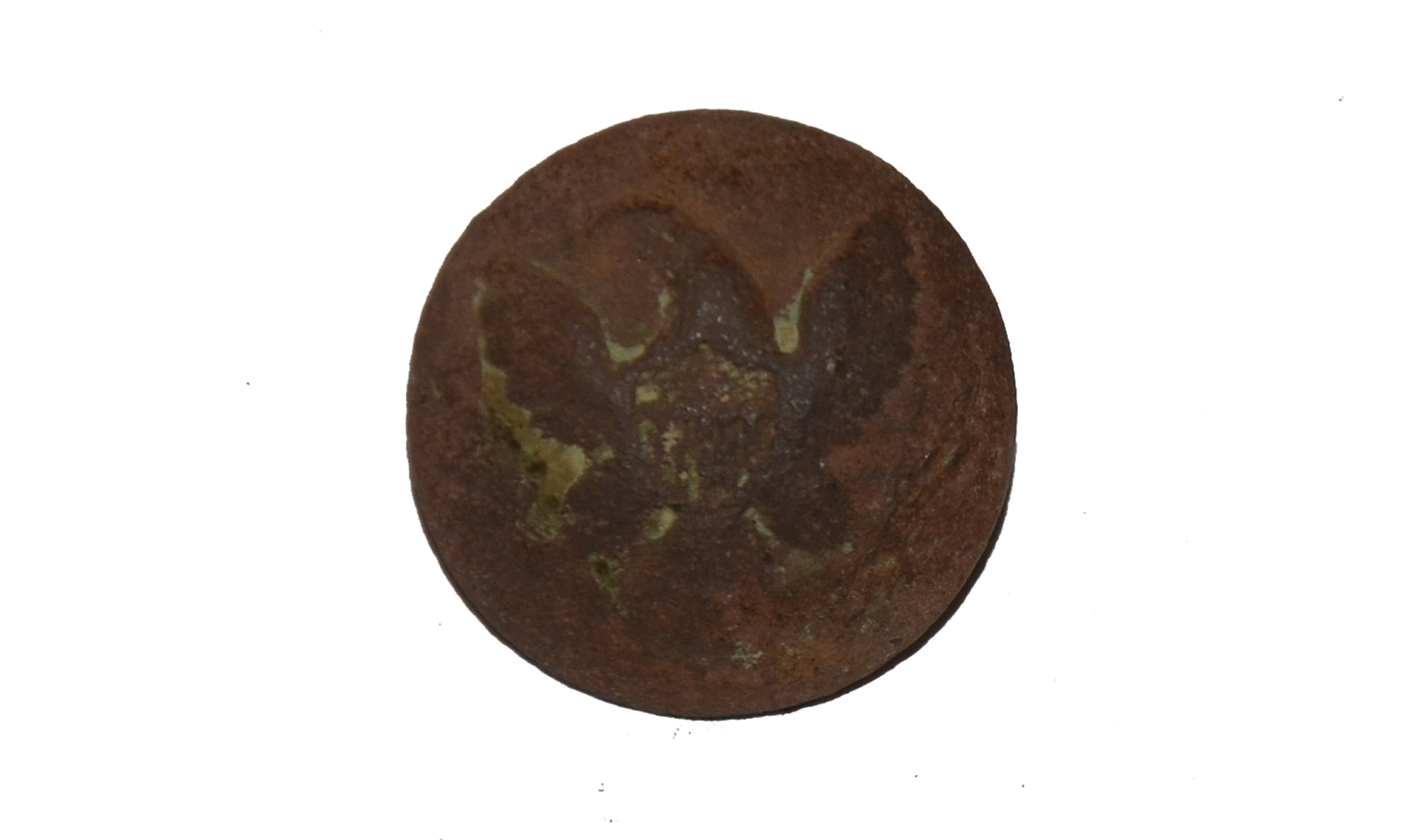 US GENERAL SERVICE EAGLE JACKET BUTTON RECOVERED ON CULP'S HILL, GETTYSBURG