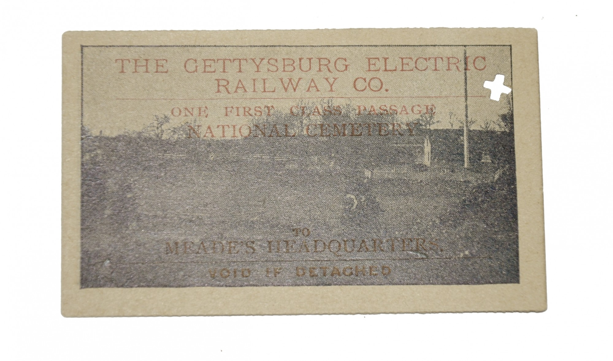 GETTYSBURG ELECTRIC RAILWAY TICKET