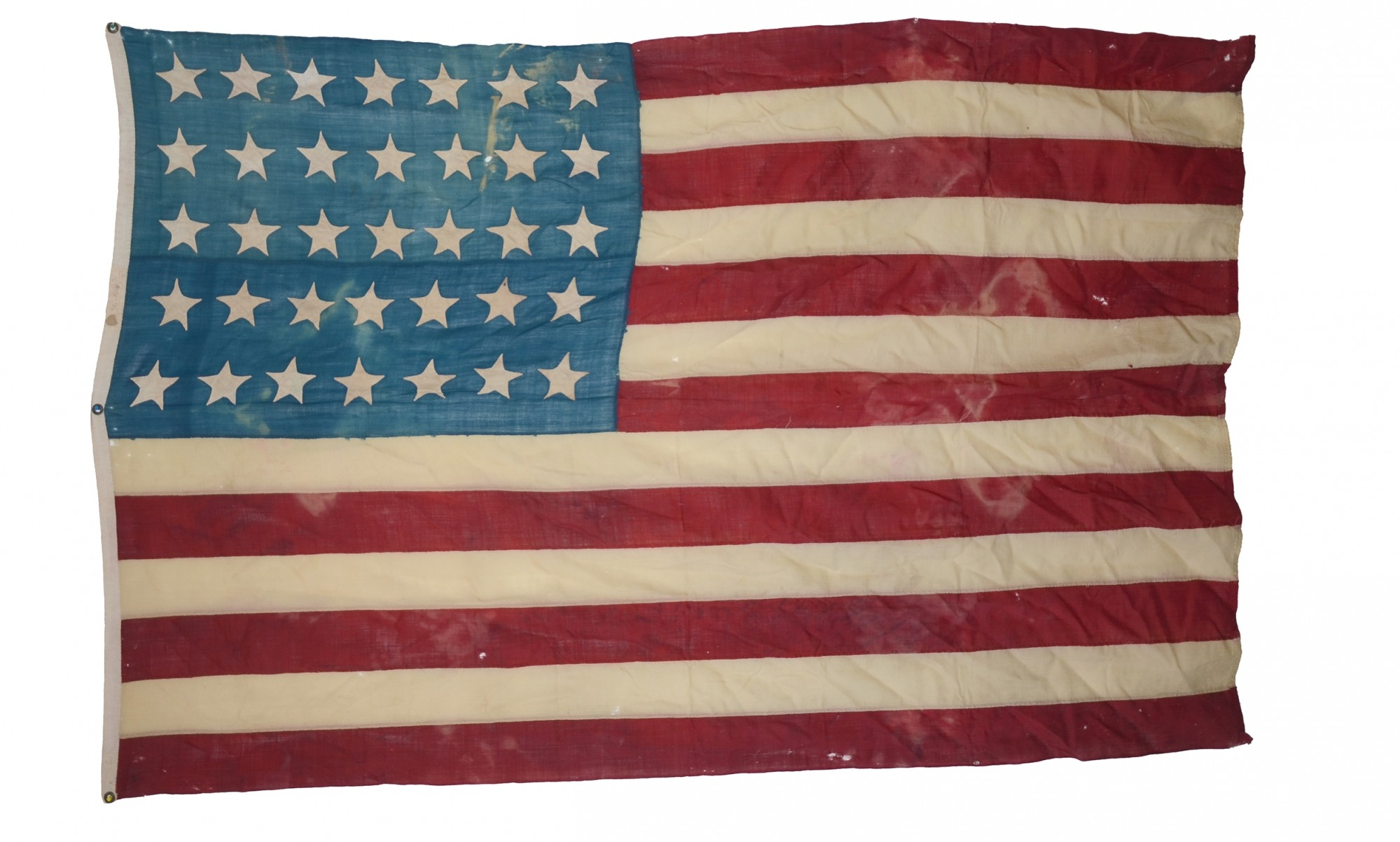 CIVIL WAR 35 STAR US FLAG ID'D TO ASSISTANT SURGEON OF 1ST LOUISIANA (NEW ORLEANS) INFANTRY