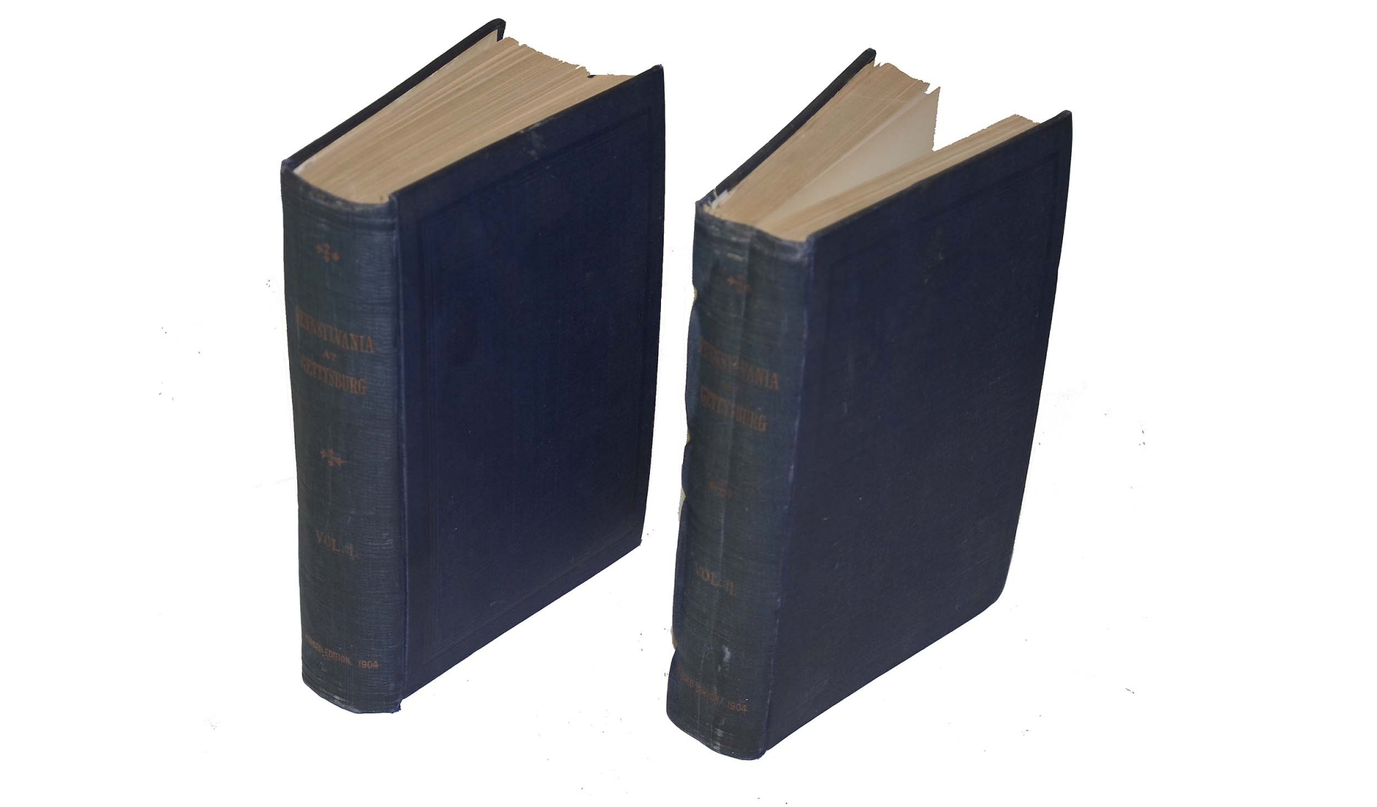 PENNSYLVANIA AT GETTYSBURG, VOLS. 1 & 2. FIRST EDITION, 1904 - OWNED BY 97TH PENN. MEDAL OF HONOR WINNER