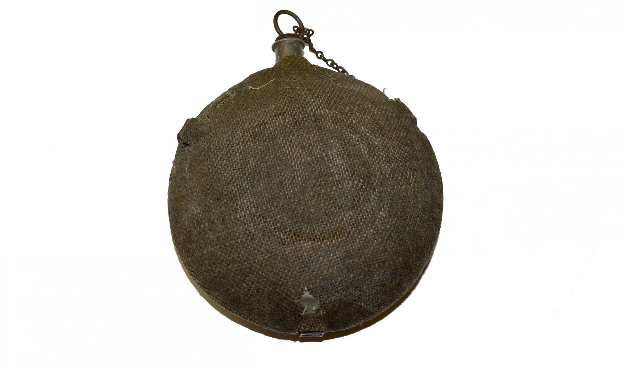 CIVIL WAR NEW YORK DEPOT MAKER MARKED BULLSEYE CANTEEN