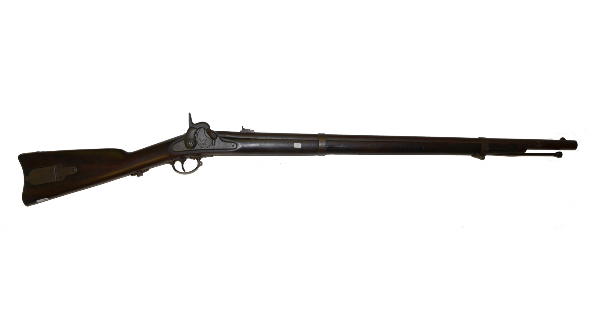 RARE US MODEL 1855 RIFLE BY HARPER'S FERRY DATED 1860 IN UNCLEANED CONDITION