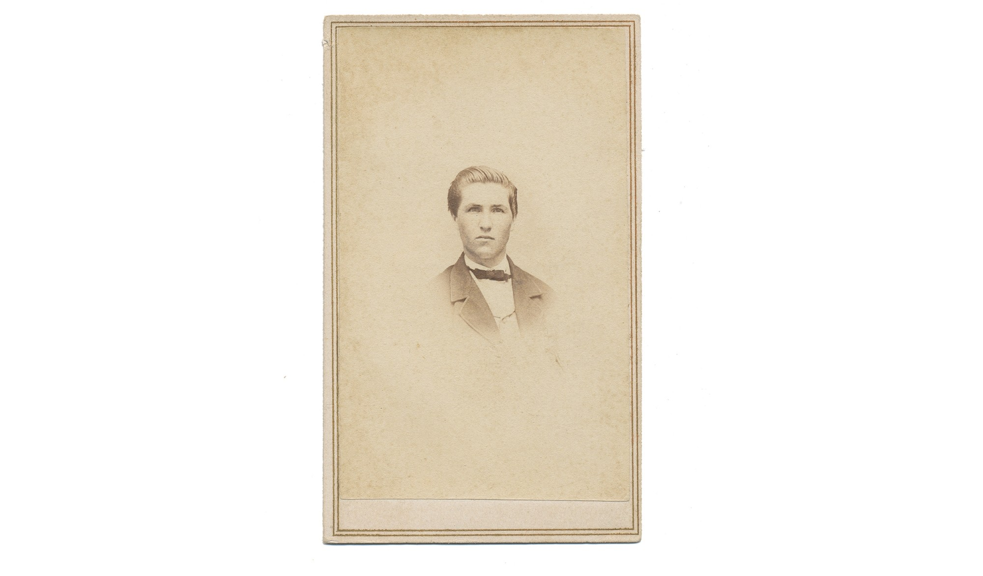 CDV OF ADAM WILKIN BEAKES, 124TH NEW YORK INFANTRY