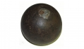 "C.S. 4.52"" 12-LB SPHERICAL SHELL USED A FARM WEIGHT, RECOVERED ON THE DAVID PLANK FARM, GETTYSBURG – GEISELMAN COLLECTION"