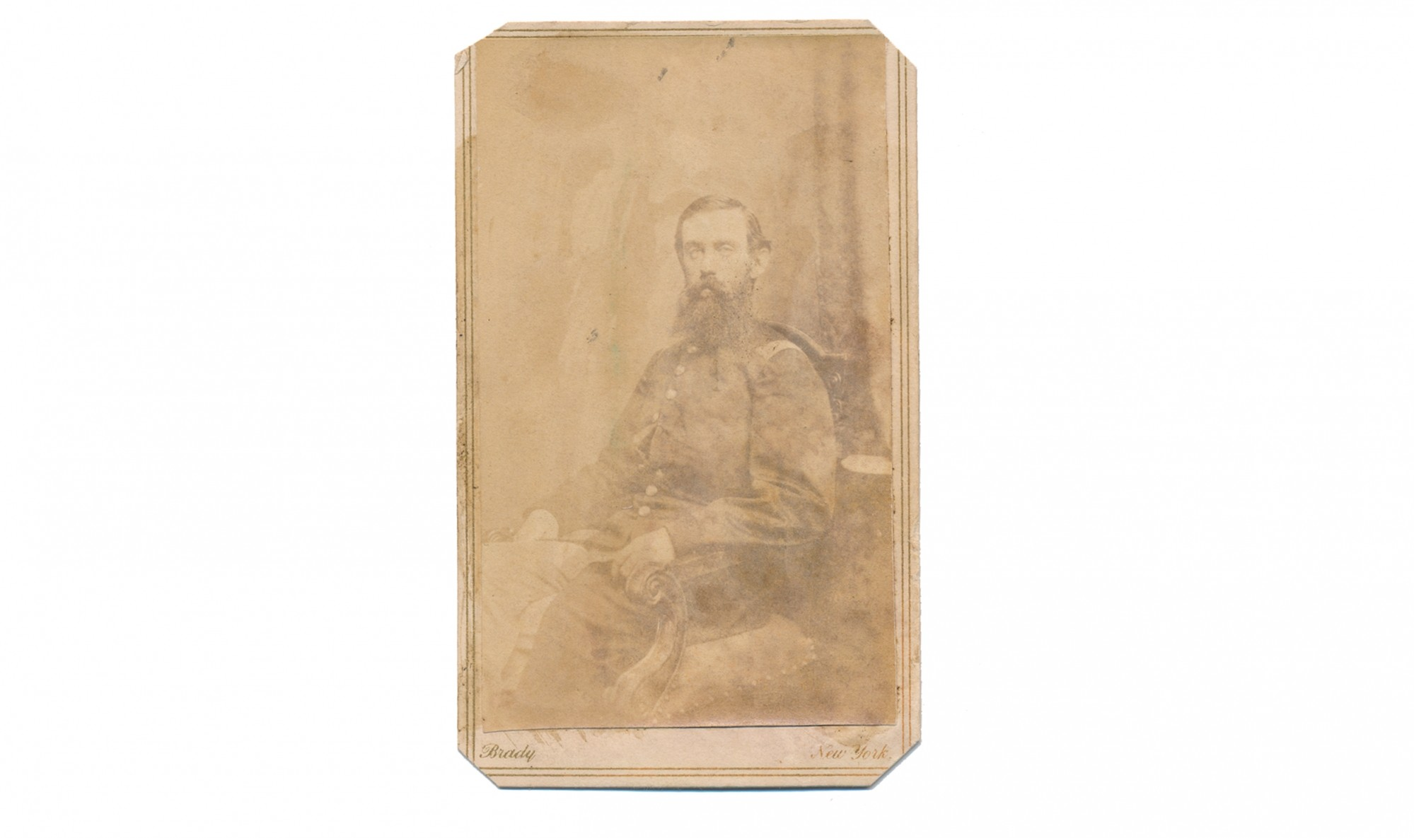 CDV OF UNION CAPTAIN JOHN McENTEE (MACENTEE), 80TH NEW YORK INFANTRY