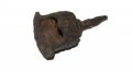 IRON CANDLESTICK HOLDER RECOVERED AT CHANCELLORSVILLE, VA