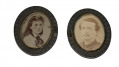 OVAL IMAGES OF MAN AND WOMAN IN CASE