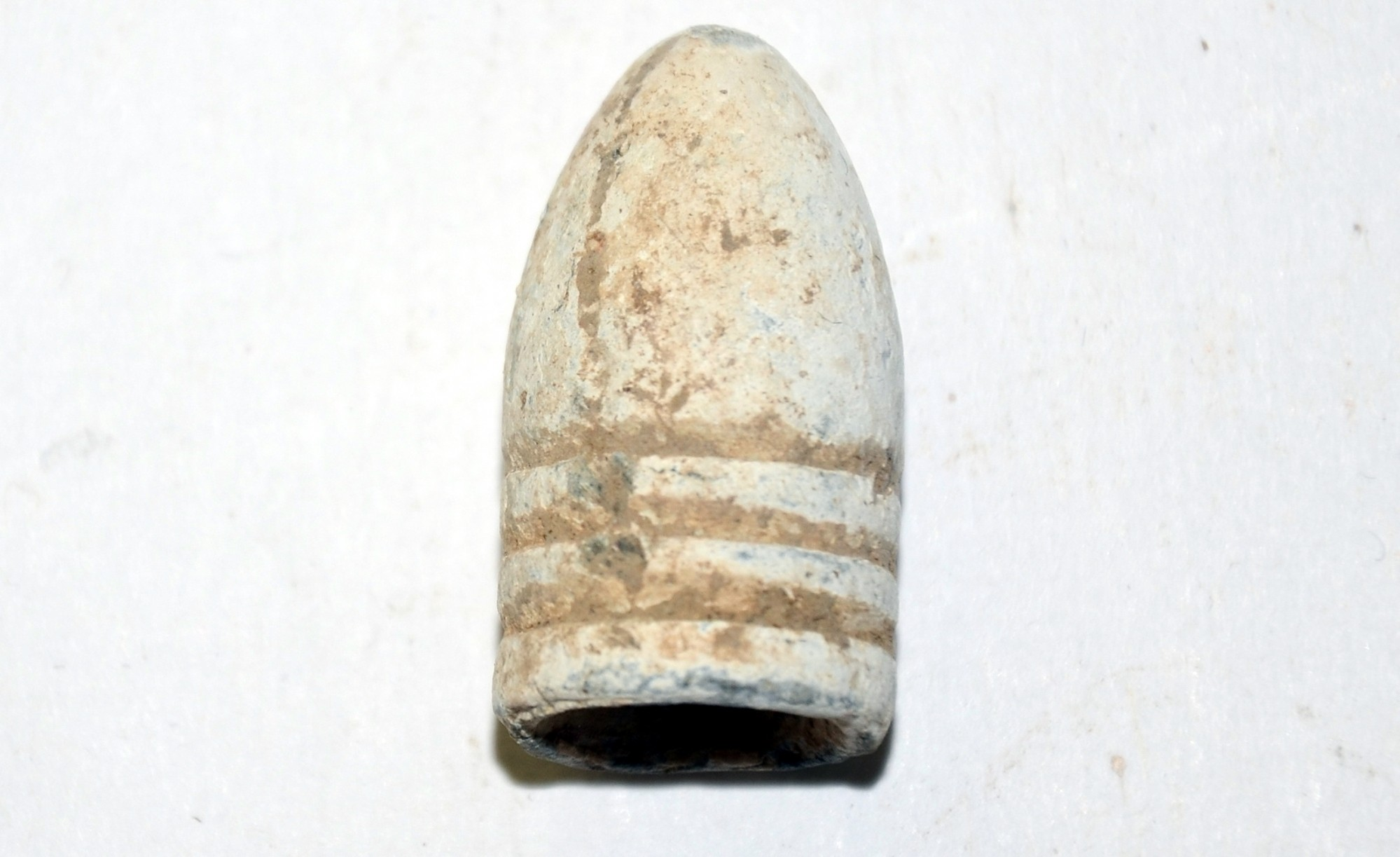 US .58 CAL. MINIE BALL RECOVERED AT THE SHERFY FARM, GETTYSBURG