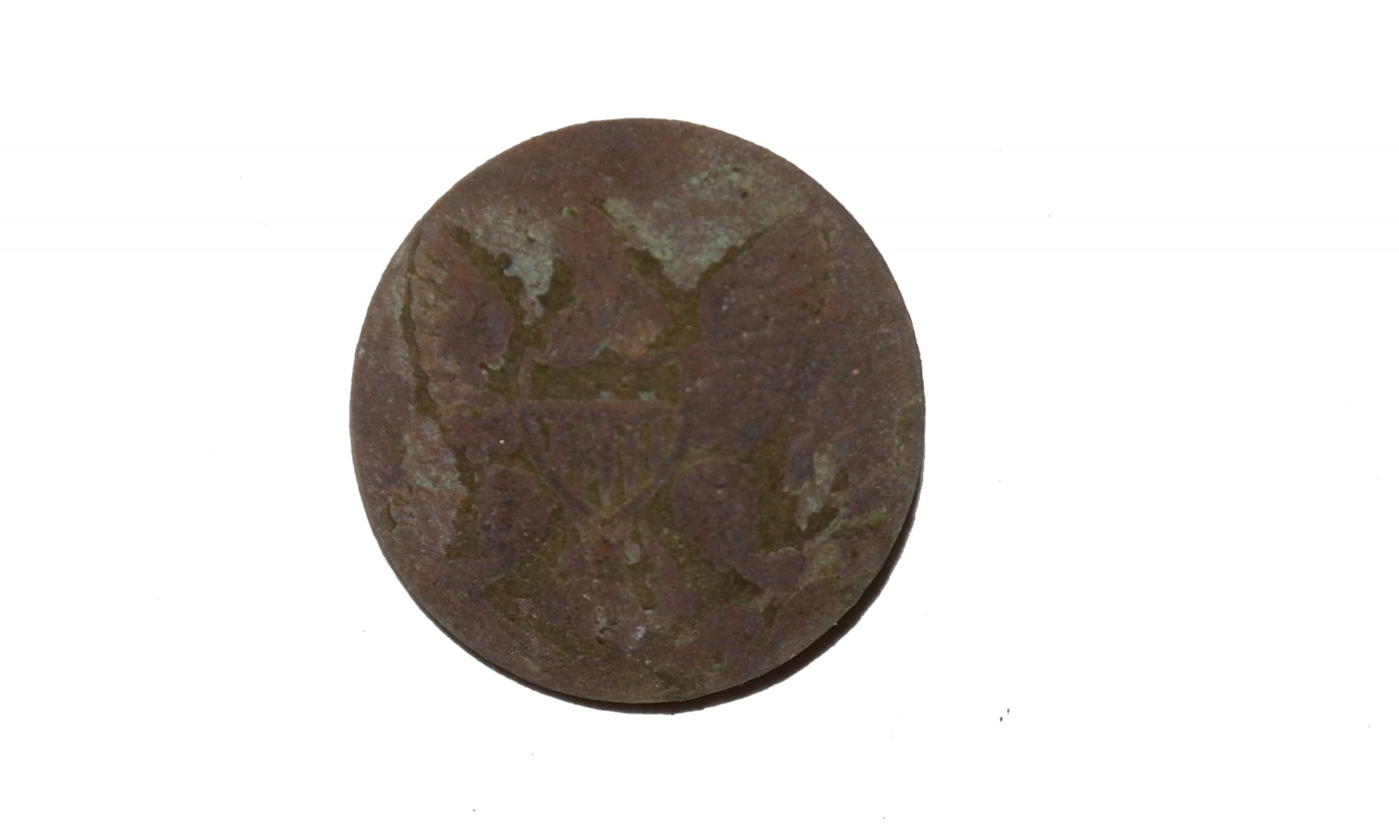 US GENERAL SERVICE EAGLE JACKET BUTTON RECOVERED AT THE TROSTLE FARM, GETTYSBURG