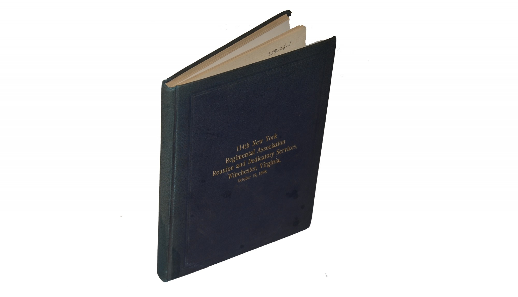114TH NEW YORK INFANTRY REUNION BOOK FROM 1898