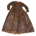 MEDIUM BROWN SILK TAFFETA DRESS C.1864-1867