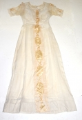 SHEER WHITE VOILE DRESS C.1900-1910