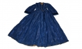 ROYAL BLUE WATERED SILK FAILLE DRESS