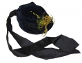 BLACK VELVET BONNET C. 1880-1890