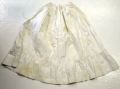 WHITE COTTON PETTICOAT C1865-1875
