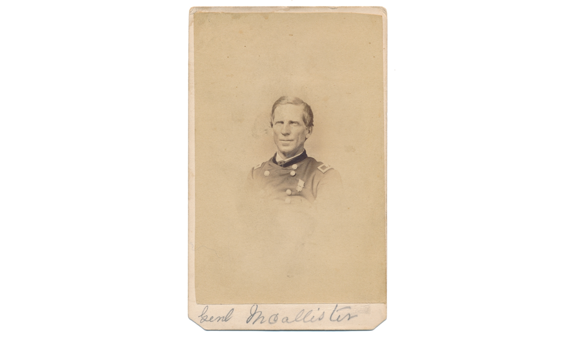 CDV OF GENERAL ROBERT McALLISTER