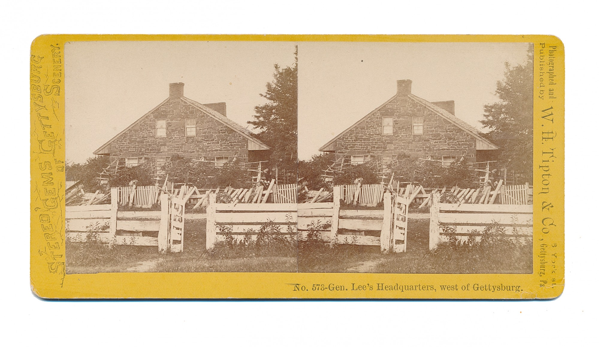 TIPTON STEREO OF LEE'S HEADQUARTERS ON SEMINARY RIDGE