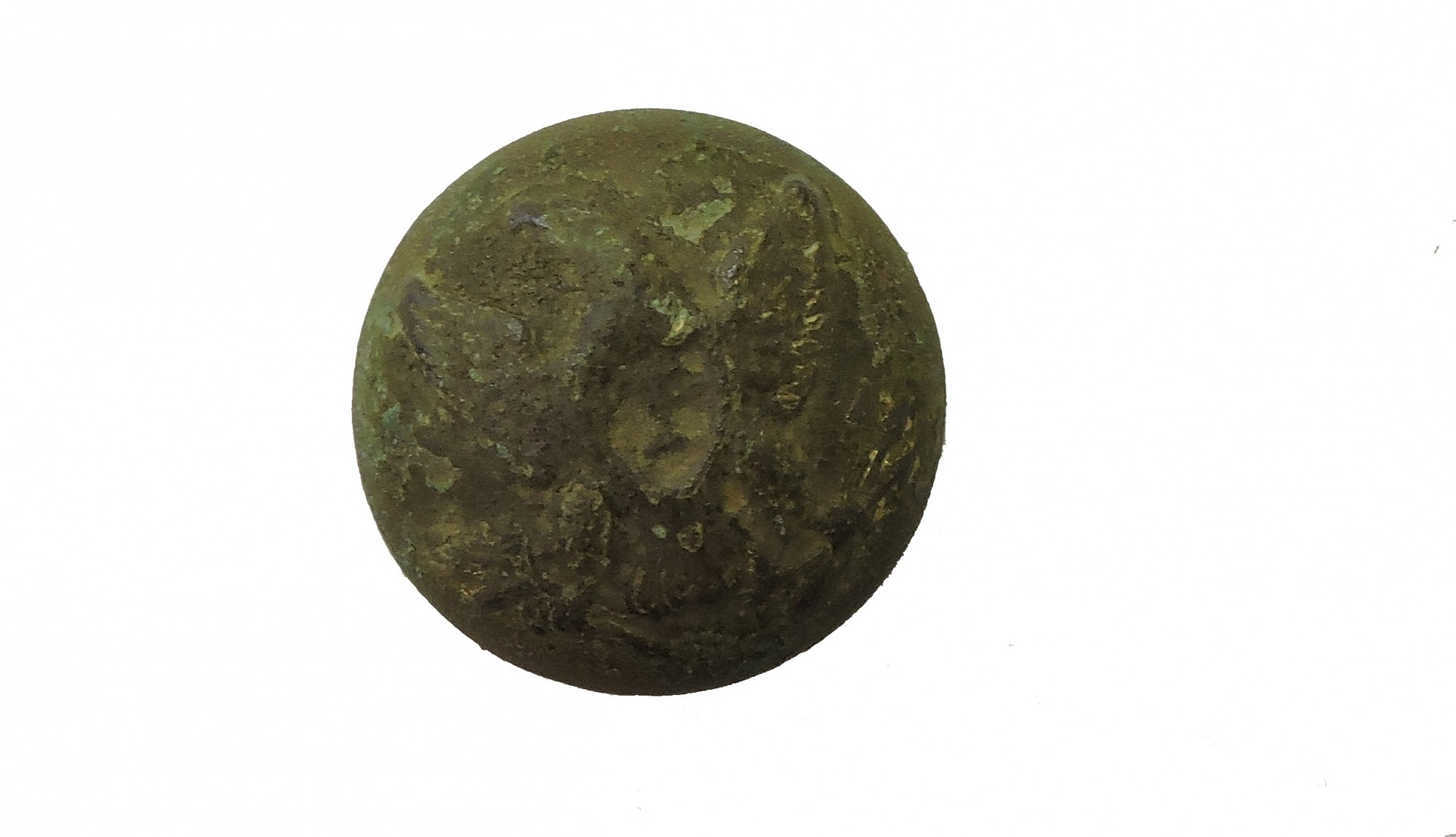 "US INFANTRY ""I' OFFICER'S JACKET BUTTON FOUND EAST OF THE STONE WALL IN THE HISTORIC WHEATFIELD AT GETTYSBURG"