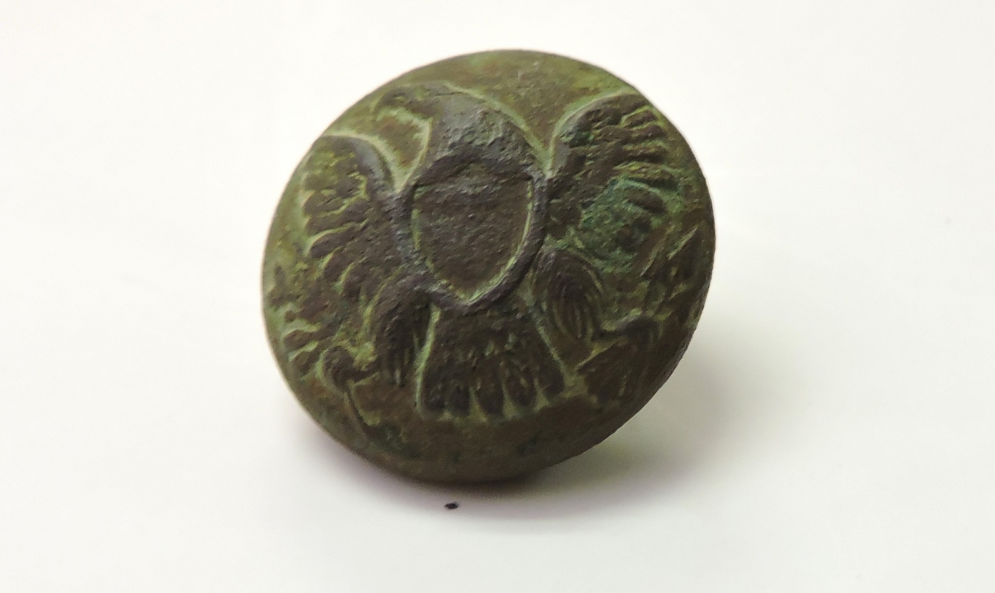 US ENLISTEDMAN'S GENERAL SERVICE EAGLE JACKET BUTTON FOUND EAST OF THE STONE WALL IN THE HISTORIC WHEATFIELD AT GETTYSBURG