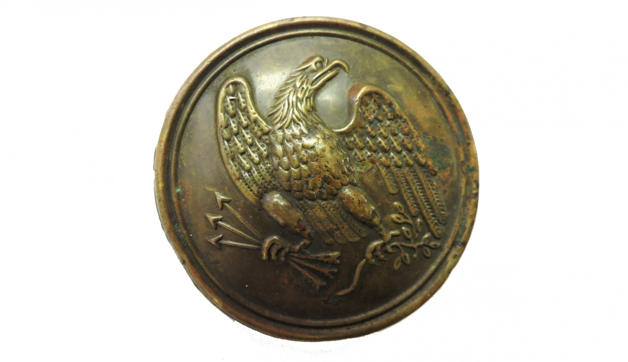 US PATTERN 1826 EAGLE BREAST PLATE, MAKER MARKED