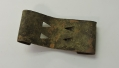 US ENLISTEDMAN'S BELT KEEPER FOUND EAST OF THE STONE WALL IN THE HISTORIC WHEATFIELD AT GETTYSBURG