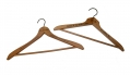 PAIR OF VINTAGE HANGERS FROM GETTYSBURG HOTEL & BREHM THE TAILOR