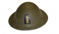 US WORLD WAR ONE MODEL 1917 HELMET WITH PAINTED 77TH DIVISION INSIGNIA