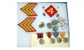 MEDALS AND DOG TAG GROUP FOR IWO JIMA MARINE