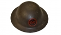 US WORLD WAR ONE MODEL 1917 HELMET WITH PAINTED 27TH DIVISION INSIGNIA