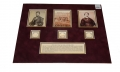 LINCOLN AND THE CONSPIRATORS - LINCOLN'S HAIR, WOOD FROM THE GALLOWS, AND MARY SURRATT'S HAIR