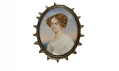 MINIATURE PORTRAIT OF LADY ON IVORY