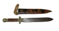 CLASSIC C. 1850-60 STAG HANDLED SHEFFIELD BOWIE KNIFE