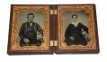 QUARTER PLATE AMBROTYPES OF MAN AND WOMAN