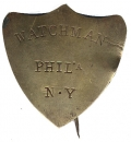 PHILADELPHIA NAVAL YARD WATCHMAN'S BADGE