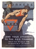WORKERS LEND YOUR STRENGTH TO THE RED TRIANGLE