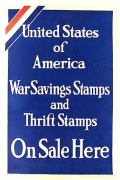 UNITED STATES OF AMERICA SAVING STAMPS AND THRIFT STAMPS