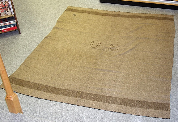 Union Army Civil War Issue Blanket In Wonderful Condition