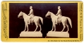 TIPTON STEREO VIEW #602 - MODEL OF MEADE EQUESTRIAN STATUE AT GETTYSBURG