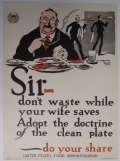 SIR - DON'T WASTE WHILE YOUR WIFE SAVES