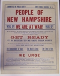 PEOPLE OF NEW HAMPSHIRE WE ARE AT WAR
