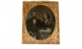SIXTH PLATE AMBROTYPE OF CIVILIAN MAN AND WOMAN