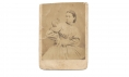 CDV OF YOUNG WOMAN WITH A SQUIRREL