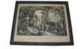 "FRAMED CURRIER & IVES PRINT ""OLE MASSA'S GRAVE"""